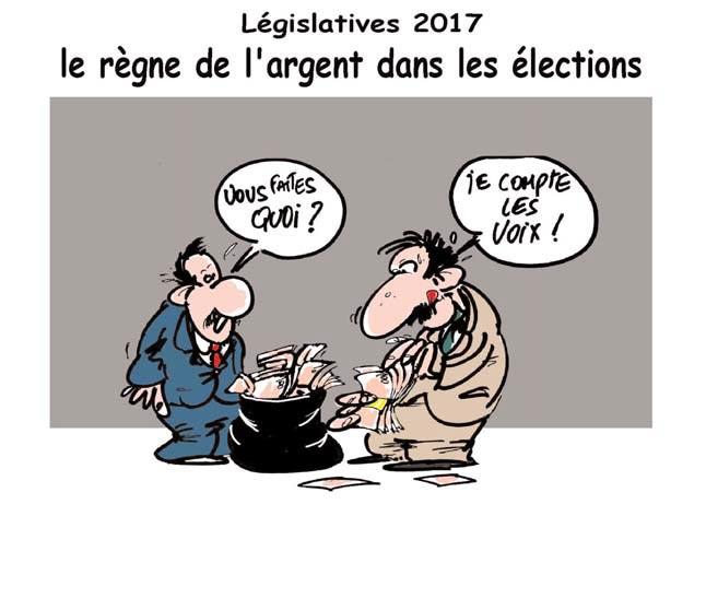Législatives 2017: Le règne de l'argen dans les élections