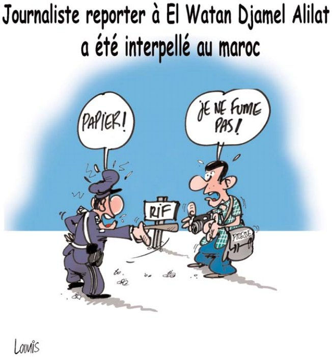 Journaliste reporter à El Watan Djamel Alilat a été interpellé au Maroc