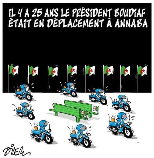 Il y a 25 ans le président Boudiaf était en déplacement à Annaba