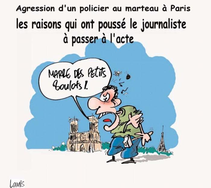 Agression d'un policier au marteau à Paris: Les raisons qui on poussé le journaliste à passer à l'acte