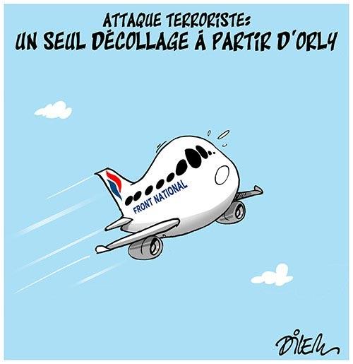 Attaque terroriste: Un seul décollage à partird'Orly