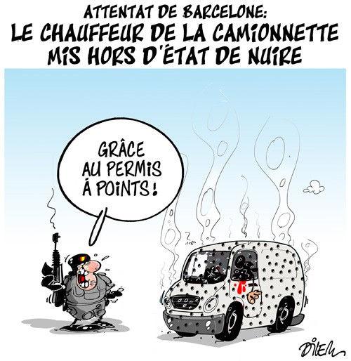 Attentat de Barcelone: Le chauffeur de la camionette mis hors d'état de nuire