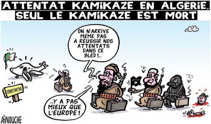 Attentat kamikaze en Algérie: Seul le kamikaze est mort