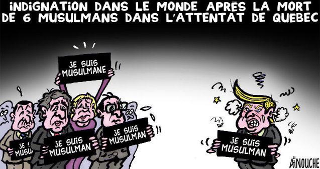 Indignation dans le monde après la mort de 6 musulmans dans l'attentat de Québec