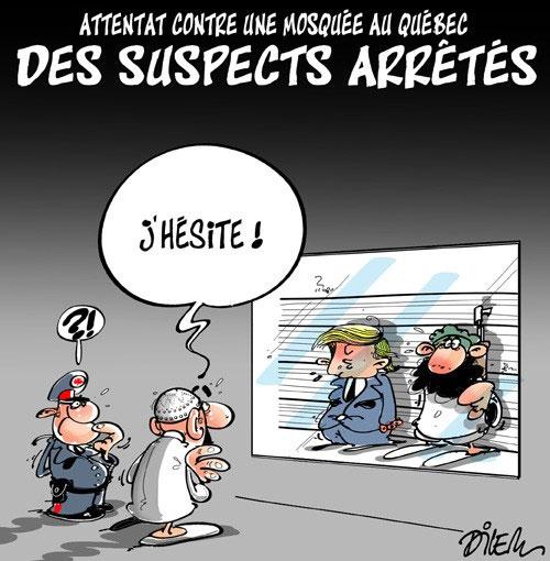 Attentats contre une mosquée au Québec: Des suspect arrêtés