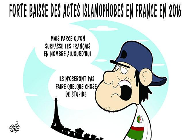 Forte baisse des actes islamophobes en France en 2016