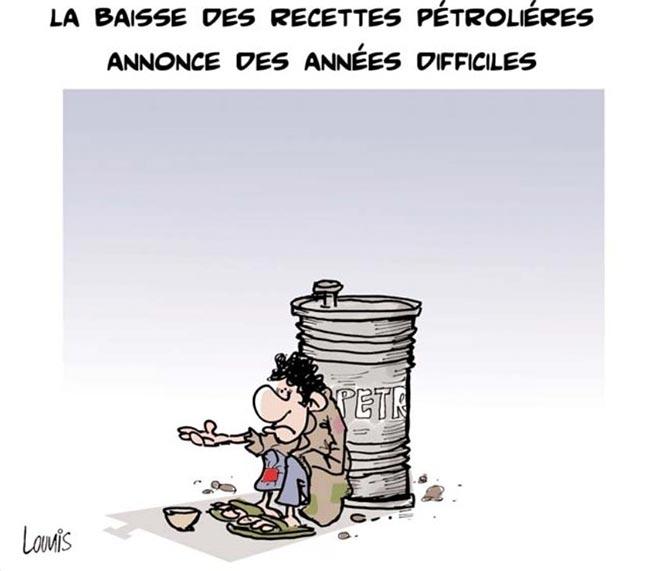 La baisse des recettes pétrolières annonce des années difficlies