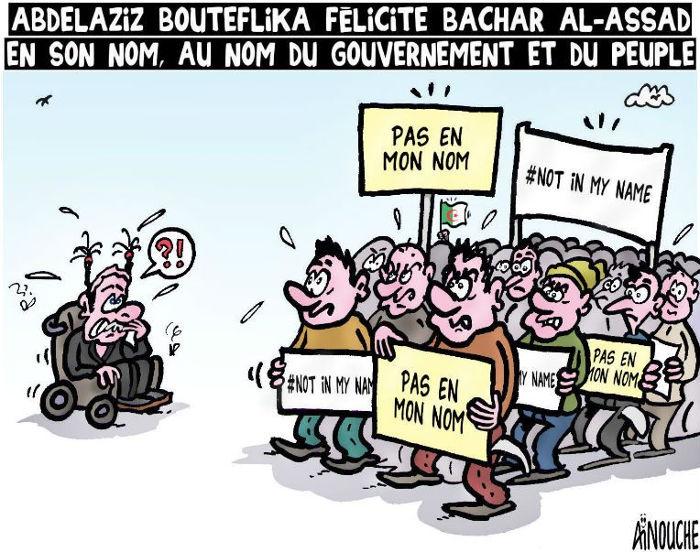 Abdelaziz Bouteflika félicite Bachar Al-Assad en son nom