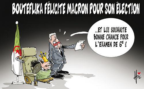 Bouteflika félicite Macron pour son élection