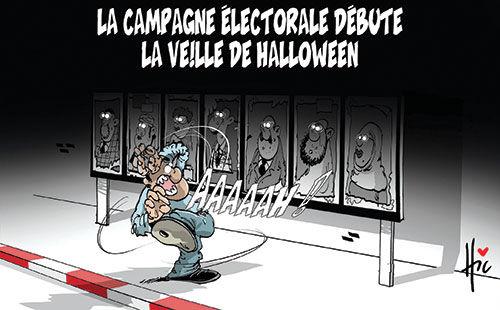 La campagne électorale débute la veille de halloween