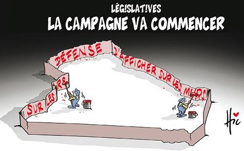 Législatives: La campagne va commencer