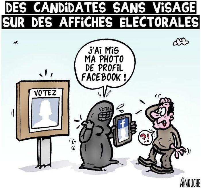 Des candidates sans visage sur des affiches électorales