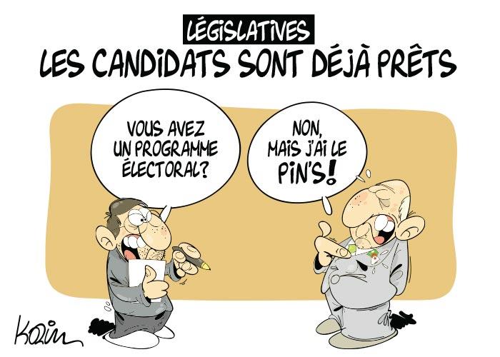Législatives: Les candidats sont déjà prêts
