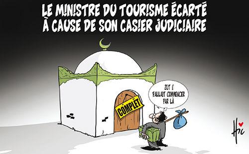 Le ministre du tourisme écarté à cause de son casier judiciaire