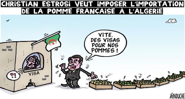 Chirstian Estrosi veut imposer l'importation de la pomme française à l'Algérie