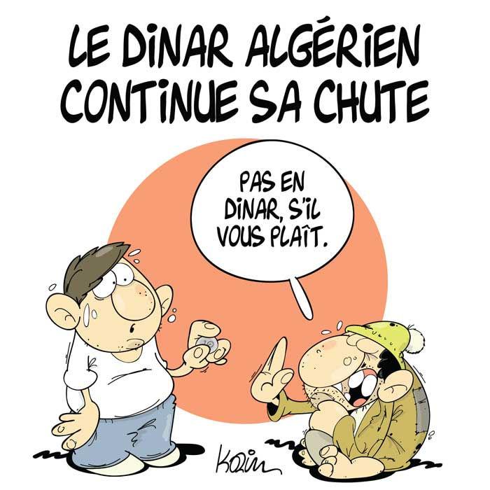 Le dinar algérien continue sa chute