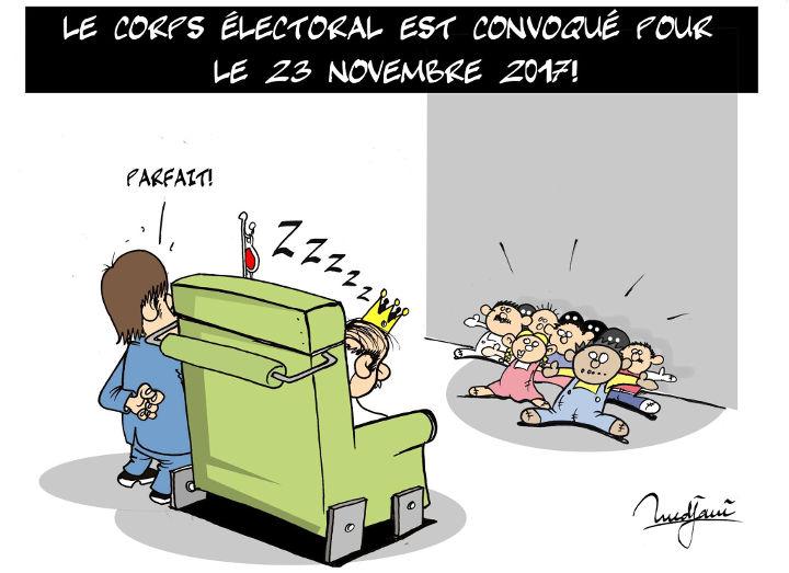Le corps électoral est convoqué pour le 23 novembre 2017