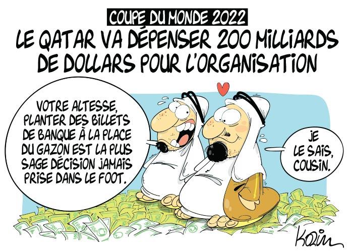 Coupe du monde 2022 le qatar va d penser 200 milliards de dollars pour l 39 organisation - Qatar football coupe du monde ...