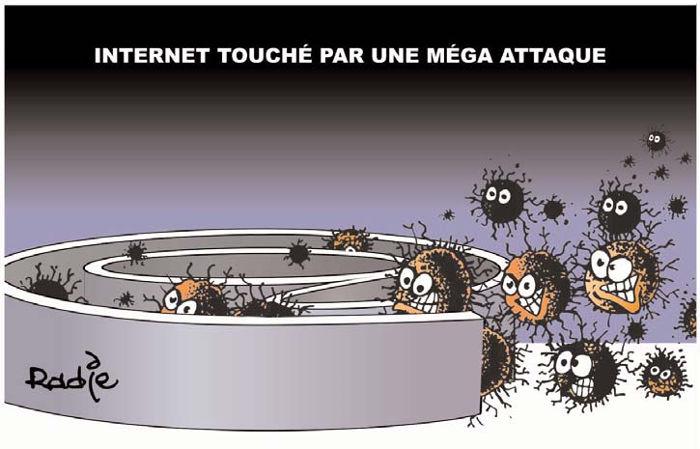 Internet touché par une méga attaque