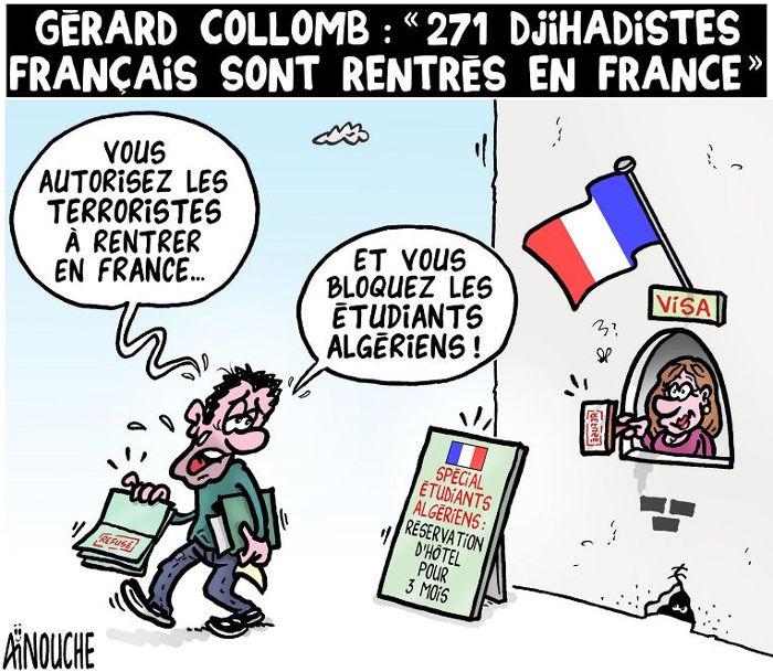 "Gérard Colom: ""271 djihadistes français sont rentrés en France"""