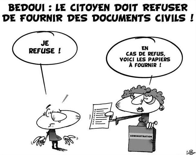 Bedoui: Le citoyen doit refuser de fournir des documents civils