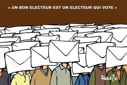 Un bon électeur est un électeur qui vote