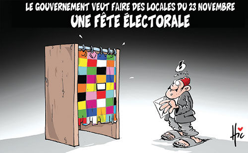 Le gouvernement veut faire des locales du 23 novembre une fête électorale