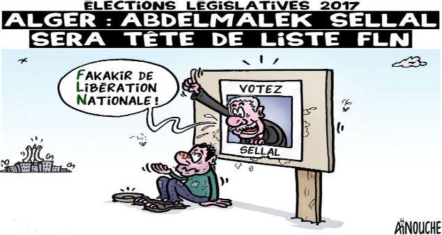 Elections législatives 2017 / Alger: Abdelmalek Sellal sera tête de liste FLN