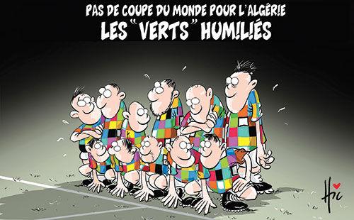 Pas de coupe du monde pour l'Algérie: Les verts humiliés