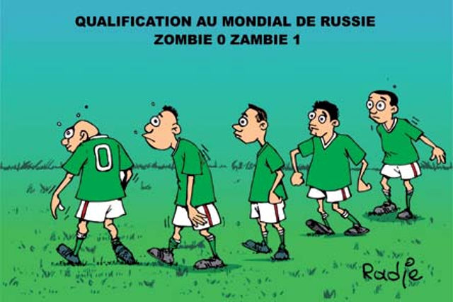 Qualification au mondial de Russie: Zombie 0 - Zambie 1