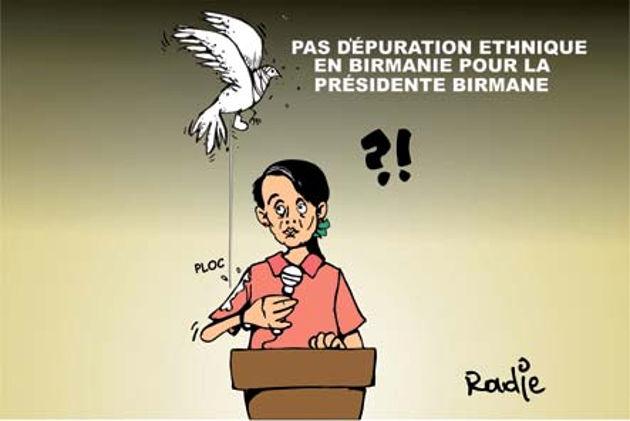 Pas d'épuration éthnique en Birmanie pour la présidente birmane