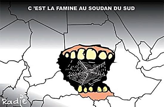 C'est la famine au Soudan du sud