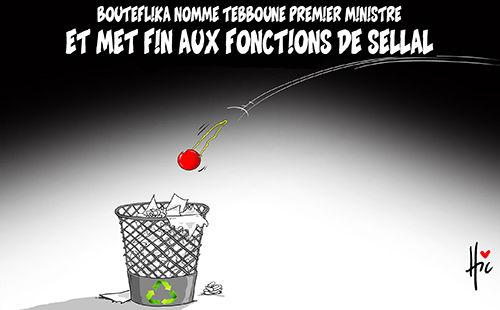 Bouteflika nomme Tebboune premier ministre et met fin aux fonctions de sellal