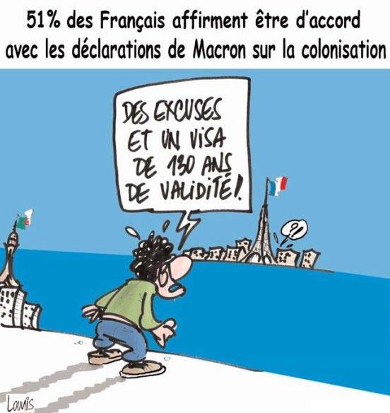 51% des français affirment être d'accord avec les déclarations de Macron sur la colonisation