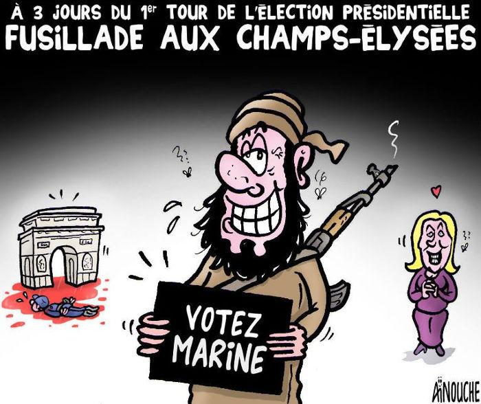 A 3 jours du 1er tour de l'élection présidentielle: Fusillade aux Champs-élysées