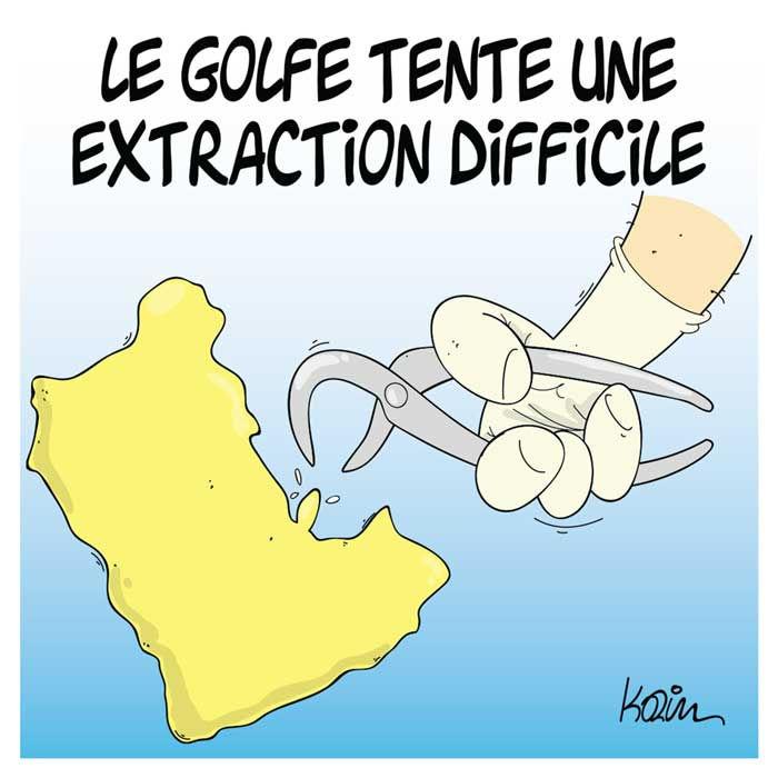 Le golfe tente une extraction difficile