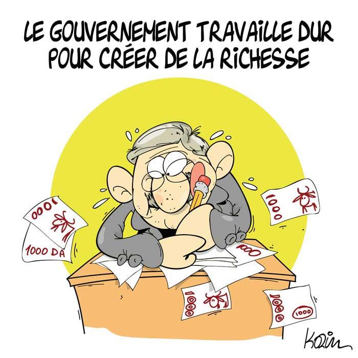 Le gouvernement travaille dur pour créer de la richesse