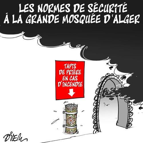 Les normes de sécurité à la grande mosquée d'Alger