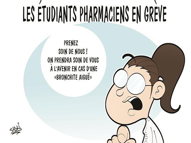 Les étudiants pharmaciens en grève