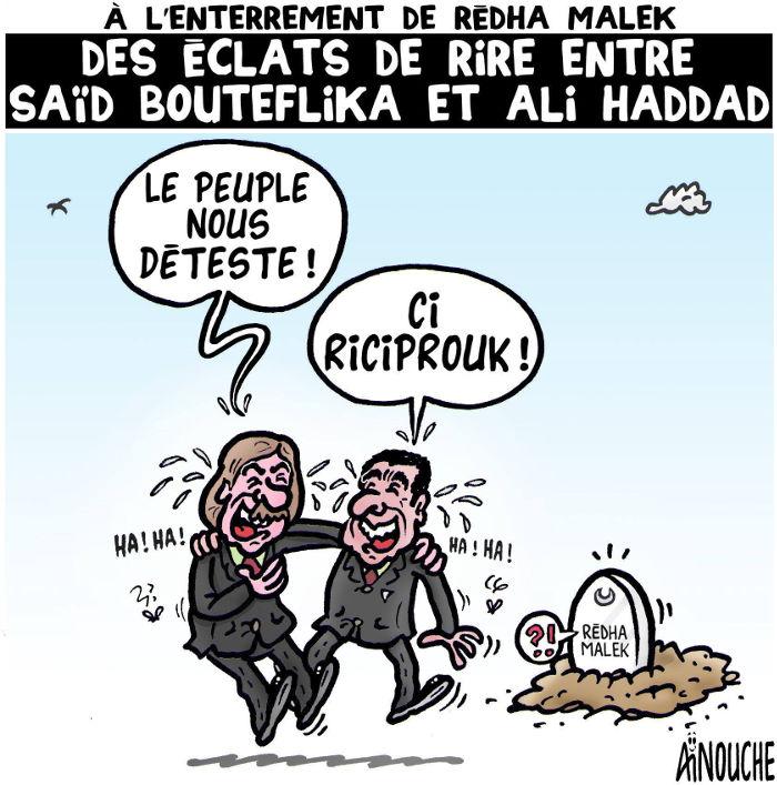 A l'enterrement de Rédha Malek: Des éclats de rire entre Saïd Bouteflika et Ali Haddad