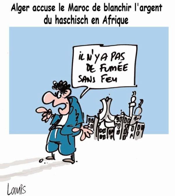 Alger accuse le Maroc de blanchirl'argent du haschiche en Afrique