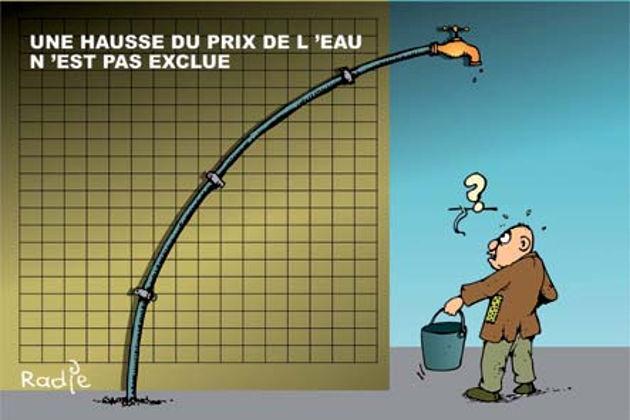 Une hausse du prix de l'eau n'est pas exclue