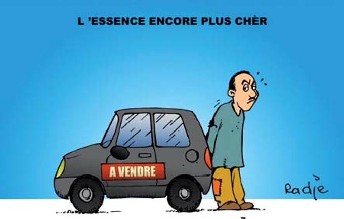 L'essence encore plus cher