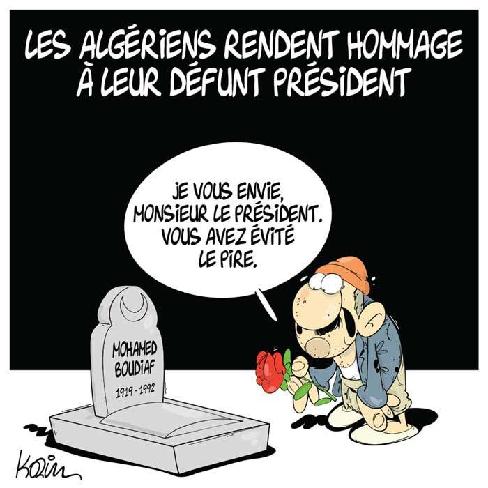 Les Algériens rendent hommage à leur défunt président