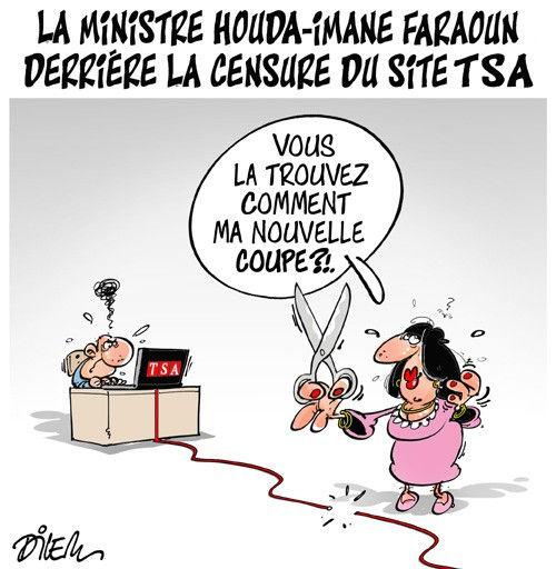 La ministre Houda-Imane Faraoun derrière la censure du site TSA