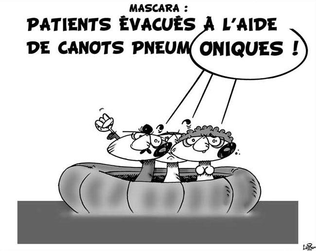 Mascara: Patients évacués à l'aide de canots penumatiques