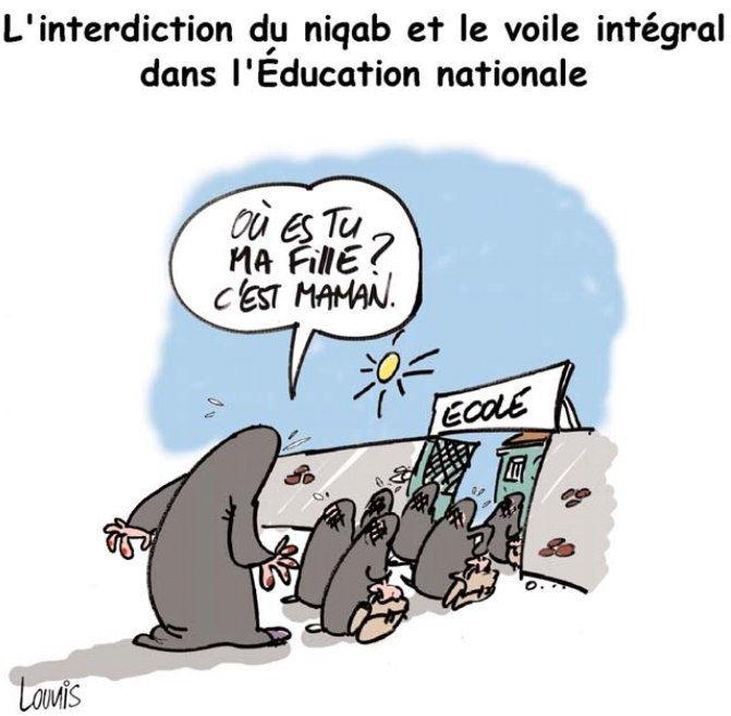 L'interdiction du niqab et le voile intégral dans l'éducation nationale