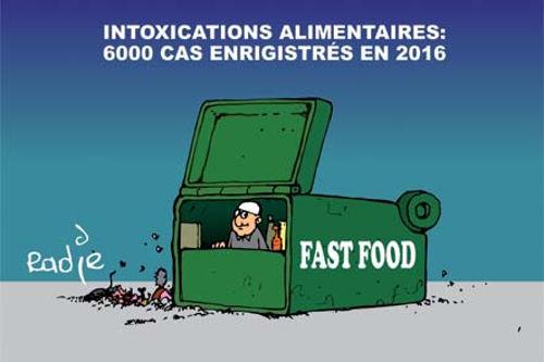 Intoxications alimentaires: 6000 cas enregistrés en 2016