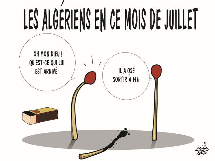 Les Algériens en ce mois de juillet