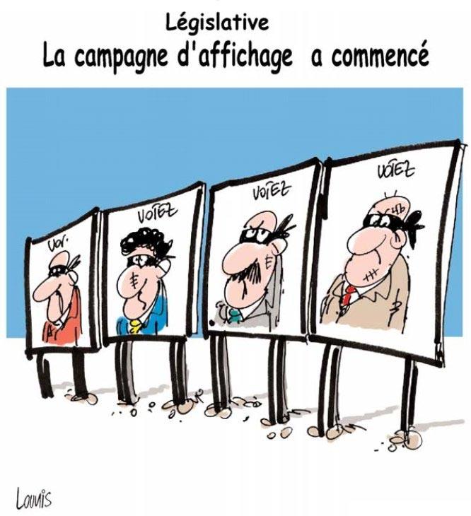 Législatives: La campage d'affichage a commencé